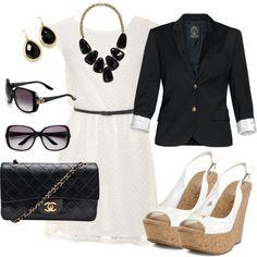 Black & White Elegance, created by jtserpico on Polyvore
