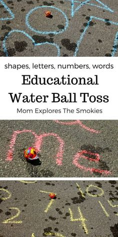 This educational water activity for kids can be used to teach letters, numbers, shapes, sight words and much more! Best of all, the game is an interactive ball toss that incorporates gross motor movement. Activities For Autistic Children, Kids Learning Activities, Fun Learning, Preschool Activities, Outdoor Learning, Outdoor Play, Ocean Activities, Indoor Activities, Autumn Activities For Kids