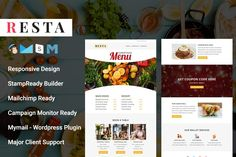 RESTA - Responsive Email Template by Pennyblack Templates on Html Email Templates, Newsletter Templates, Design Templates, Mail Chimp Templates, Campaign Monitor, Responsive Email, Sales Letter, Email Client, Google Fonts