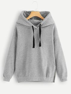 YUNY Womens Crop Leisure Baggy Solid Long Sleeve Hoodie Sweatshirts Khaki M