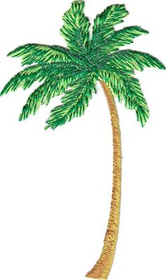 "[Single Count] Custom and Unique (2 3/4"" x 4 3/4"") Beach Palm Tree Iron On Embroidered Applique Patch {Green and Tan Colors} myLife Brand Products http://www.amazon.com/dp/B0108PUVYG/ref=cm_sw_r_pi_dp_ckxPvb19QK86M"