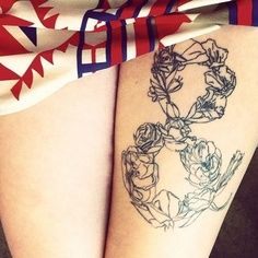 floral ampersand tattoo