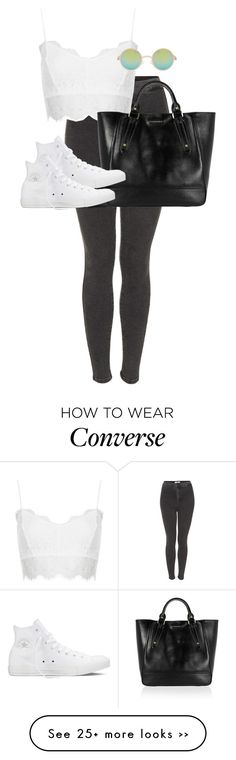"""Untitled #9310"" by alexsrogers on Polyvore featuring Topshop, Burberry, Converse and ASOS"