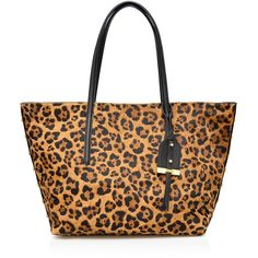 dee026d08f Botkier Madison Leopard Print Calf Hair Tote ( 425) ❤ liked on Polyvore  featuring bags