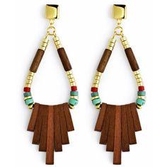 Jenny Bird Woodland Earrings ($100) ❤ liked on Polyvore