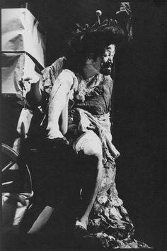 """Tatsumi Hijikata, Shizukana le, 1973. Photograph by Makoto Onozuka. """"My mother used to say: Run with the heart of the blind."""""""
