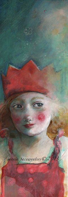 Sunlight On My Crown- Original mixed media painting by Maria Pace-Wynters