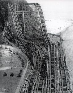 The Comet roller coaster, Crystal Beach Ontario by stevesobczuk, via Flickr