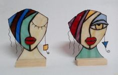 rostros en vidrio  vidrio spectrum,cinta de cobre,estaño técnica tiffany