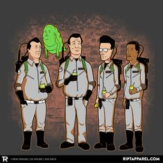 Ghostbusters and King of the Hill mashup design