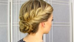 Fishtail French Braid Updo is a perfect hairstyle for that night out on the town. I love to wear my hair in braids to work so I think with a smart blazer Waterfall French Braid, French Braid Styles, French Braid Ponytail, French Braids, Braided Hairstyles For Teens, Updo Hairstyles Tutorials, French Braid Hairstyles, Hairstyles 2018, Fishtail Updo