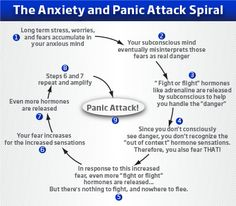 "Panic Spiral. Though I would have to say that, for me at least, this is experience as: ""See person walking on opposite side of street...panic attack!"""