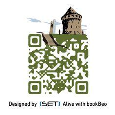 QR Code designé pour l'Office de Tourisme de Brest métropole océane. A retrouver dans le Guide 2012. L Office, Brest, Qr Codes, Mobile Marketing, Guide, Coding, Learning, Books, Design