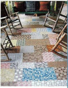 What fun for a sunroom floor!