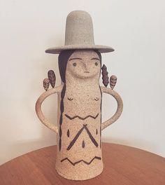 Totem by Heidi Anderson @h.a.ceramics #ceramics #art #home #decor #midcentury #modern