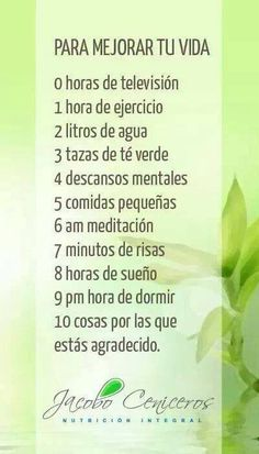 Para mejorar tu vida - To improve your life Good Habits, Healthy Habits, Healthy Tips, Health And Beauty, Health And Wellness, Health Care, Workout Bauch, Tips & Tricks, Natural Medicine