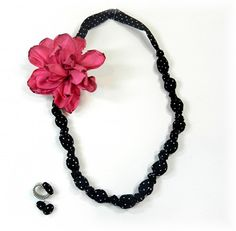 DIY Gorgeous Necklace and Ribbon Flower tutorial! (it also has a link for a button cover jewelry tutorial too!)