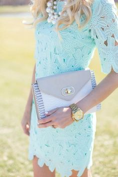 mint lace wedding guest dress / http://www.himisspuff.com/wedding-guest-dress-ideas/7/