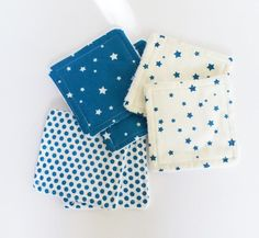 Lot de 6 lingettes lavables écologiques pour démaquiller les mamans ou  pour les soins de toilette de bébé !!!    Un côté éponge de bambou bio ( épaisse et extra douce ) - 19366466