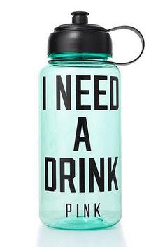 Chug Life: 26 Killer Water Bottles #refinery29 http://www.refinery29.com/reusable-water-bottles#slide-20 Victoria's Secret PINK Water Bottle, $14.50, available at Victoria's Secret.