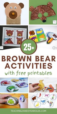 Looking for Brown Bear, Brown Bear, What Do You See activities? This toddler and preschool collection offers hands-on ideas for art, literacy, sensory, colors, science, and more! #literacy #brownbear #book #activities #printables #circletime #earlychildhood #teachers #homeschool #toddler #preschool #activity #2yearolds #3yearolds #teaching2and3yearolds Bears Preschool, Preschool Learning Activities, Alphabet Activities, Color Activities, Toddler Preschool, Fun Learning, Toddler Activities, Preschool Activities, Brown Bear Book