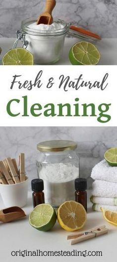 Natural cleaning recipes for all-purpose cleaner, window cleaner and scouring powder. Declutter the toxic chemicals from your home and go natural. Natural cleaning tips and ideas for a healthy home environment. Read More at OriginalHomestead… Homemade Cleaning Products, House Cleaning Tips, Green Cleaning, Natural Cleaning Products, Cleaning Hacks, Cleaning Supplies, Natural Cleaning Solutions, Natural Cleaning Recipes, Thieves Oil Recipe