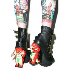 Irregular Choice Roarsum Booties | i would so wear these :p