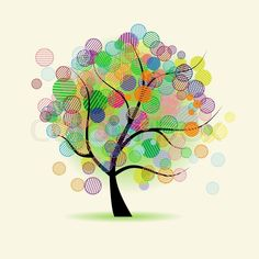 Stock vektor ✓ 15 mio. billeder ✓ Billeder til web og print i høj kvalitet | Stock vektor af 'regnbue, træ, bubble'