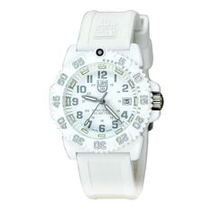 Shop for Luminox 7057WO Authentic Unisex Wrist-watch with Quartz Movement, PC Carbon Reinforced Case, Non Screw Down Crown and White Dial at discounted price with free worldwide shipping in United States