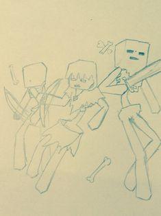 Minecraft Drawings, Skeleton, Lazy, Gallery, Minecraft Mods, Minecraft Designs, Roof Rack, Skeletons