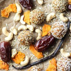 Mango Vanilla Bean Protein Energy Balls [ Paleo, Whole30 ] • Fit Mitten Kitchen