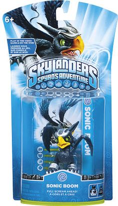 #ToysRus                  #Toys #Action Figures     #weapons #powers #generations #magical #frozen #skylanders #sonic #alive #character #adventure #boom #spy #world #pack            Skylanders Spyro's Adventure Character Pack - Sonic Boom                      Bring your Skylanders to life! Frozen in our world. Alive in Theirs.                                                                                                                 For Generations, the Skylanders have used their magical…