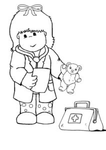 Child Doctor Colouring Page Coloring For Kids Coloring Pages