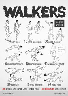 The Walkers Workout This site has AWESOME info graphics! ❤️