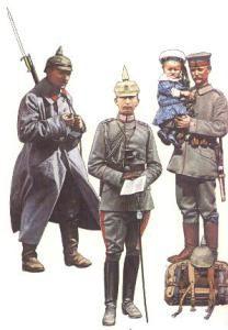 Landwehr-Infanterist (Brüssel, 1914) * Leutnant als Flügeladjudant des Kaisers (Riga, Sep.1917) * Soldat des 4.Gardeinfanterieregimentes (Berlin, August 1914)