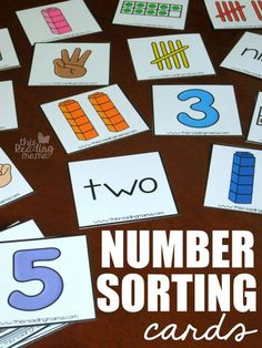 Free Number Sorting Cards! Awesome way to build number sense and show different ways to make the numbers 1 to 10. This would be a great preschool or kindergarten math activity!
