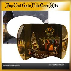 Christmas Eve Pop Out Gatefold Card on Craftsuprint - View Now!