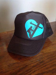 Lineman Love Hat by LinemanLove on Etsy https://www.etsy.com/listing/203163793/lineman-love-hat