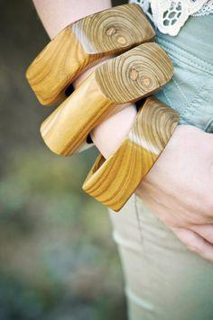 Wood Bangle  Sumac Bracelet  Olive Green  Wooden by inbloomdesigns, $35.00
