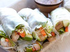 thai fresh spring rolls!