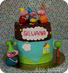 Mini tarta de dos pisos de Peppa Pig /Peppe Pig Cake