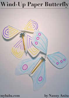 Learn how to make your own wind-up butterfl in just a few simple steps. Arts And Crafts Movement, Make Your Own, Make It Yourself, How To Make, Beaver Scouts, Arts And Crafts For Teens, Butterflies Flying, Butterfly Frame, Spring Blossom