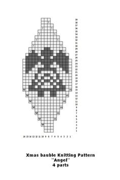 FREE Beaded Bead Pattern ___ One Segment ___ Make your own knitted Christmas baubles for your tree Knitted Christmas Decorations, Knit Christmas Ornaments, Christmas Knitting, Christmas Stockings, Christmas Crafts, Beaded Ornament Covers, Beaded Ornaments, Crochet Ball, Crochet Chart