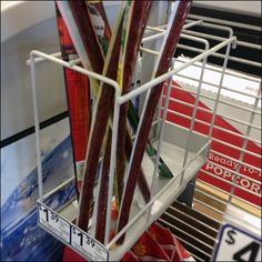 This Slim Jim Beef Jerky Grid Rack is Dual Lane for Grid and was nearly picked clean so the concept must be a good one. Beef Jerky, Grid, Concept, Hooks, Retail, Retail Merchandising