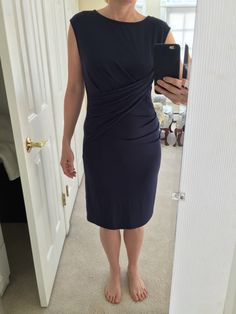 Stitch Fix January 2016: Kut From The Kloth Mollee Draped Dress, Navy. Love!