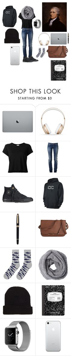 """""""Alexander Hamilton"""" by lilycobain2002 ❤ liked on Polyvore featuring Beats by Dr. Dre, RE/DONE, GAS Jeans, Converse, Columbia, Mont Blanc, ONLY NY, 21 Men, Mead and men's fashion"""