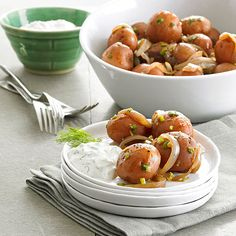 Party Potatoes with Creamy Aioli