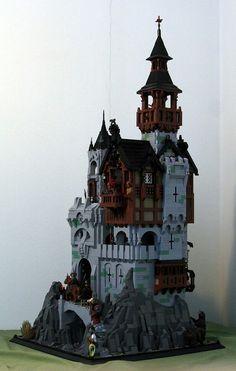 Lego Castle - Das alte Kloster - Decoration and Outfits Lego Castle, Minecraft Castle, Amazing Lego Creations, Minecraft Creations, Lego Design, Halloween Lego, Chateau Lego, Pokemon Lego, Vila Medieval