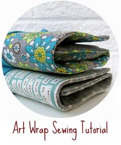 These little wraps measure 5.5″ x 7″ (18cm x 14cm) folded, and 10″ x 16.5″ (25cm x 41cm) unfolded. There is room inside for a small notebook/sketch pad (A6 size) and 16 full…