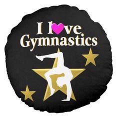 GOLD STAR GYMNAST ROUND PILLOW http://www.zazzle.com/mysportsstar/gifts?cg=196945324741962519 #Gymnastics #Gymnast #IloveGymnastics #Gymnastgifts #WomensGymnastics #USAGymnastics #Gymnasticsgifts #Gymnastgift